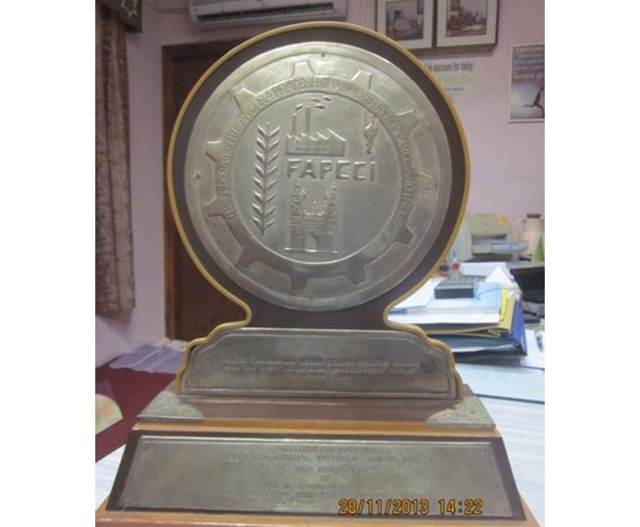 The Best Industrial Productivity Award for 1995-1996 from FAPCCI, Hyderabad.